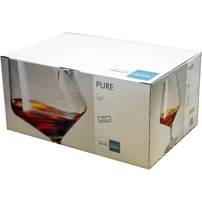 6 verres cognac pure schott zwiesel achat vente verre a digestif cdiscount. Black Bedroom Furniture Sets. Home Design Ideas
