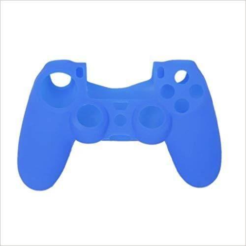 MANETTE JEUX VIDÉO 3355-SHLKCoque en silicone pour manette PS4 Bleu--