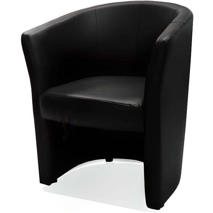 fauteuil cabriolet noir belize achat vente fauteuil. Black Bedroom Furniture Sets. Home Design Ideas