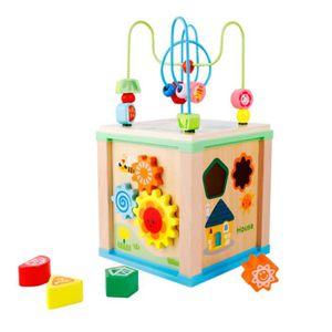 TABLE JOUET D'ACTIVITÉ Activité Cube Jouets bébé éducatif Perle en bois l