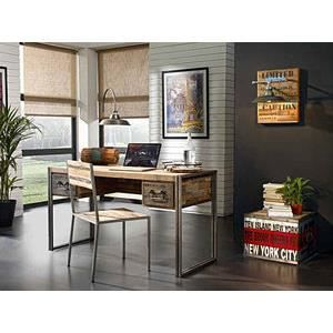 bureau factory new york achat vente bureau bureau factory new york cdiscount. Black Bedroom Furniture Sets. Home Design Ideas