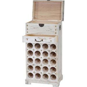 MEUBLE RANGE BOUTEILLE Etagère à vin Lucan pour 20 bouteilles / mobilier