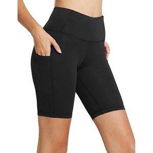 Noir Pantacourt de fitness souple XS Pantalon 3//4 de gymnastique Pantacourt de sport pour femme noir Ultrasport Pantacourt de yoga pour femme