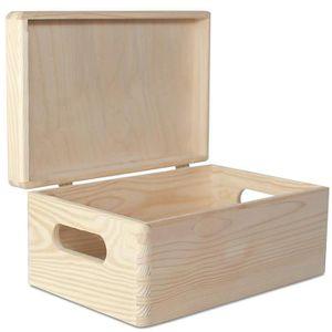 COFFRE - MALLE Creative Deco Grande Boîte de Rangement Bois | 30