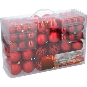 BOULE DE NOËL Boules de Noël rouges - Pack de 100