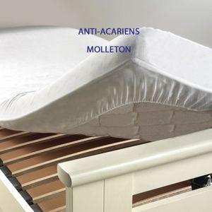 PROTÈGE MATELAS  Protège matelas anti-acariens 140x190 blanc