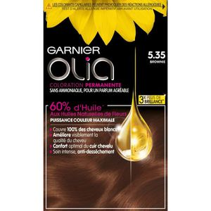 COLORATION GARNIER Olia Coloration pour cheveux n° 5.35 brown