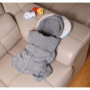 GIGOTEUSE - TURBULETTE  pour bébé tricotée, couverture de naissance, pour