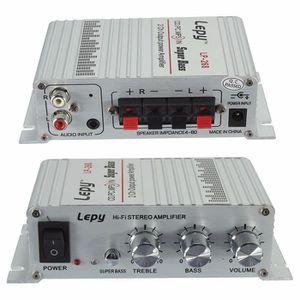 AMPLIFICATEUR HIFI Lepy Mini Hi-Fi Stéréo Ampli 40W 12V 2-Canaux Ampl