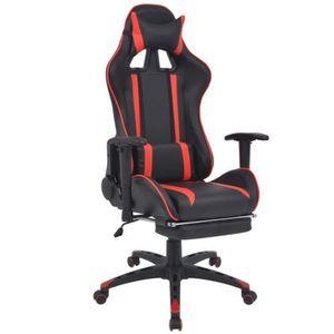 CHAISE Chaise de bureau inclinable avec repose-pied Rouge