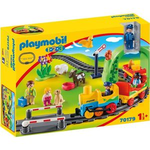 UNIVERS MINIATURE PLAYMOBIL 1 2 3 - 70179 - Train avec passagers et
