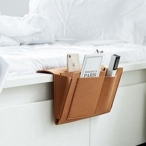 Sac de rangement de chevet 8 poches de tailles diff/érentes Peut stocker des boissons t/él/éphones mobiles,livres t/él/écommande,Id/éal pour lit,dortoirs,caddy,appartment Gris