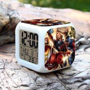 HORLOGE - PENDULE 1PCS The Avengers LED changeant de couleur d'alarm