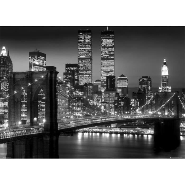 new york posters xxl brooklyn bridge nuit 9 achat vente affiche cdiscount. Black Bedroom Furniture Sets. Home Design Ideas