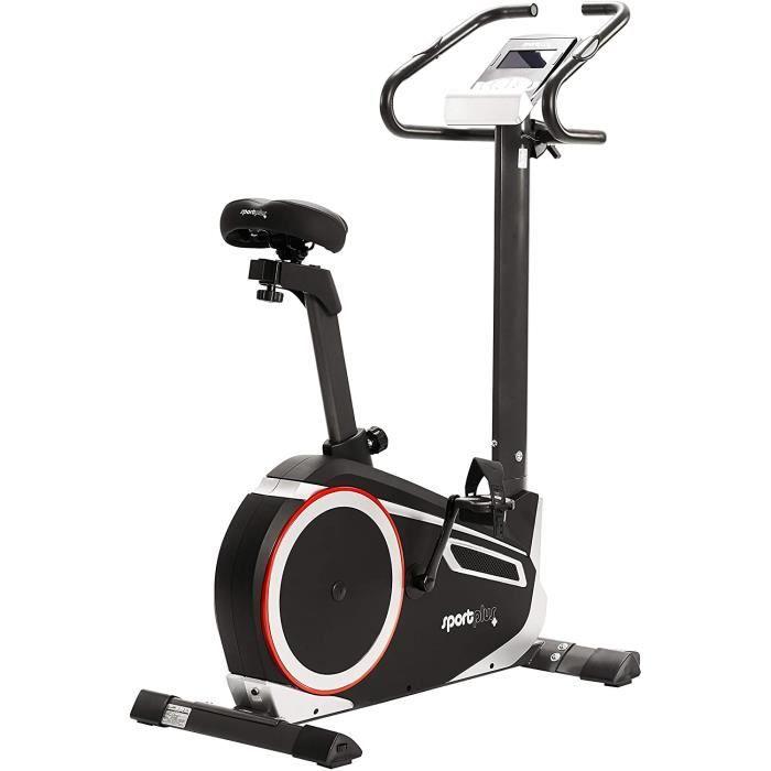 SportPlus - Vélo d'appartement / Ergomètre - Google Street View - Mesure puissance Watt - Roue d'inertie: 10 kg - 24 Niveaux de Rési