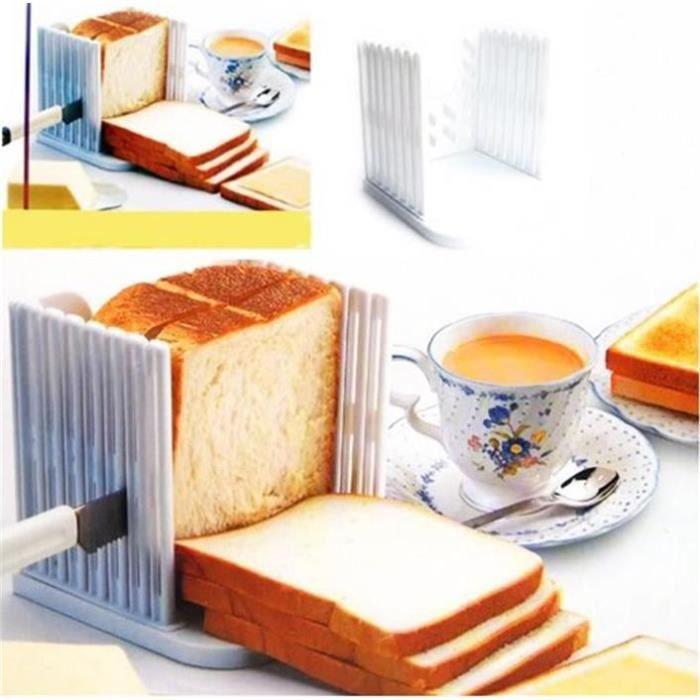 Planche Moule Tranche Pain Toast Accessoire Coupe Ustensile de Cuisine