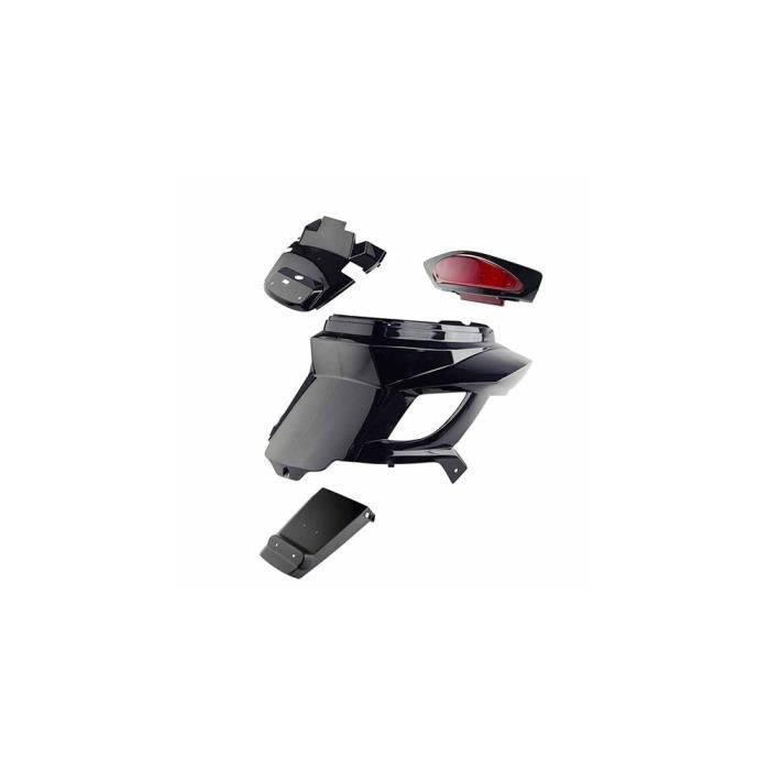 Coque ar scooter bcd adapt. booster 2004- noir new design avec passage de roue/feu stop