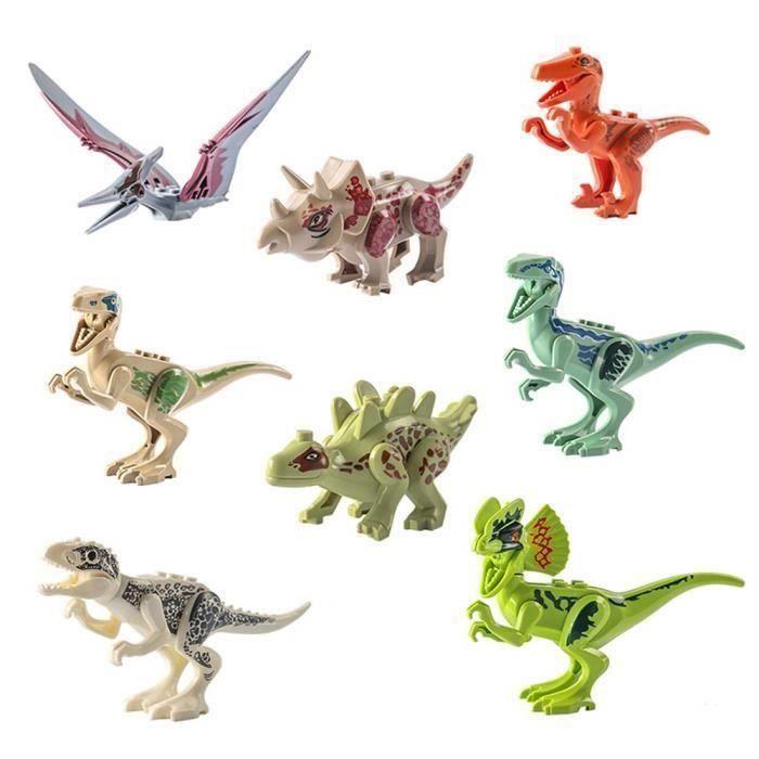 KW 8pcs Blocs de Construction de Dinosaure Jouet pour Enfants, Jouets de Dinosaure, Assemblage Jouet