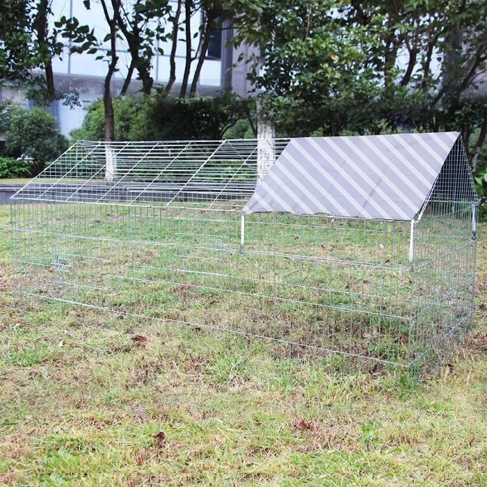 Enclos Lapin Parc Ouvert Cage &agrave Lapin Li&egravevre Clapier Activit&eacute ext&eacuterieure13