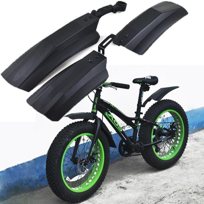 Pièce Détachée,Garde boue de vélo de neige 20 pouces 26 pouces garde boue de vélo 2 pièces garde boue arrière avant pour Fatbike