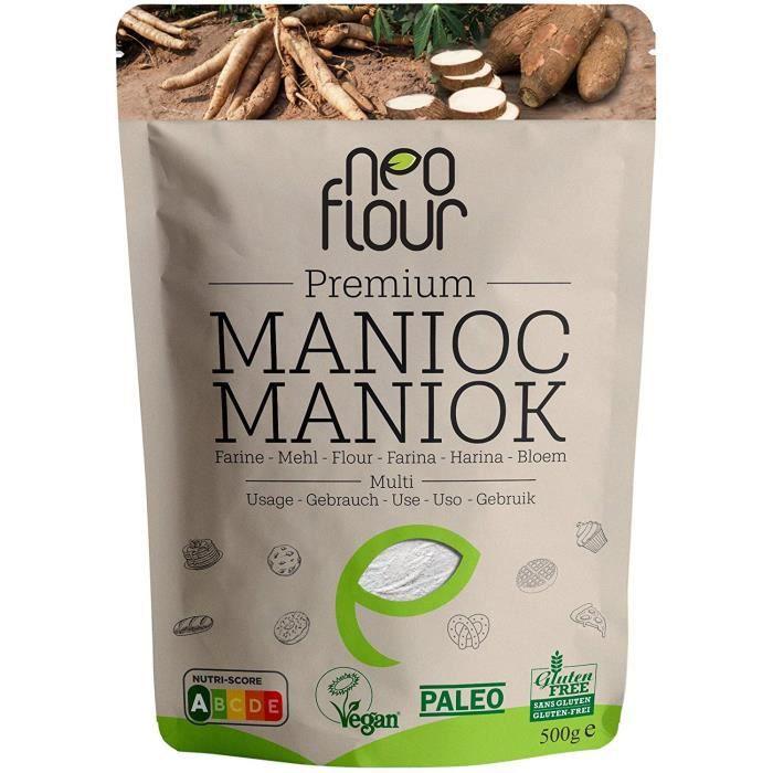 Farine de Manioc Premium / Spéciale pour Patisserie et Cuisine / Sans Gluten / 100% Naturelle / Sans Conservateurs / Sans Additifs /