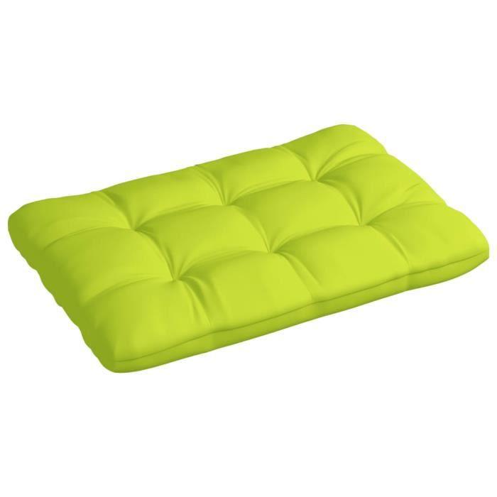 Haute qualité-Coussin de palette - Coussins pour fauteuils canapés moderne -Vert vif 120x80x12 cm Tissu Super��5751