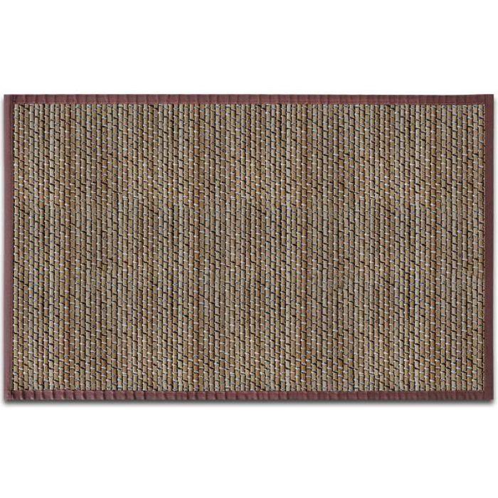 Tapis en Fibre Naturelle - Tapis 100% Bambou - 160x230 cm - Marron