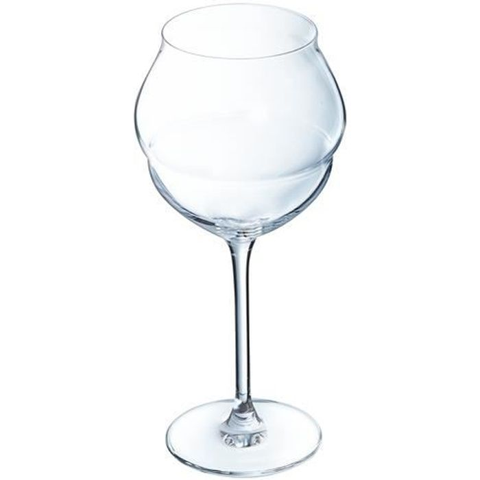6 verres à vin 50cl Macaron - Chef&Sommelier - Cristallin design original ultra transparent