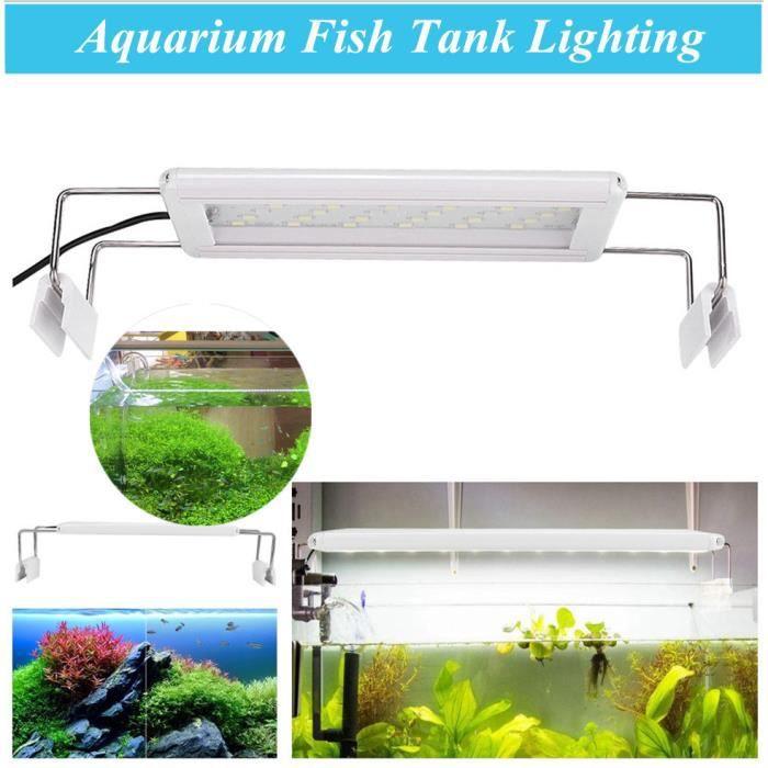 Highlight LED Light Lamp avec support pour l'éclairage de réservoir de poissons d'aquarium 200-240V 5W 20CM-30CM