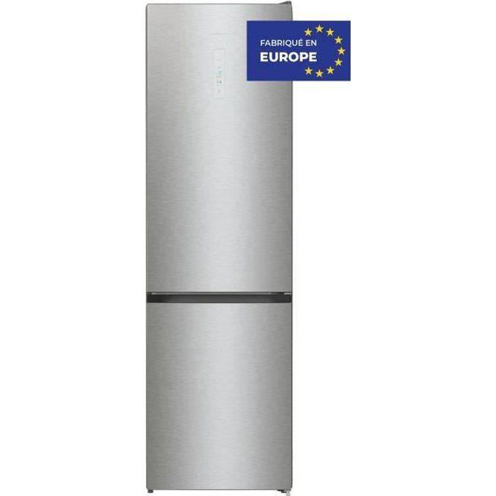HISENSE RB434N4AD1 - Réfrigérateur congélateur bas - 331L (235 + 96) - froid ventilé total - L60x H200 - silver