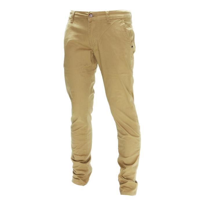 D-Skins - Pantalon chino beige Slim - DK-8510
