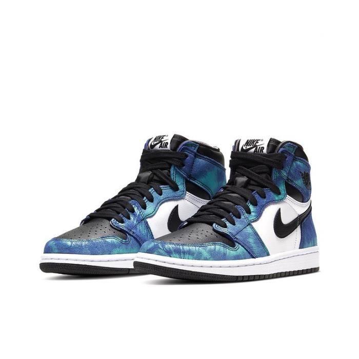 Air Jordan 1 Retro High Tie Dye (GS) Chaussures de Sport Basket AJ 1 Pas Cher pour Homme Femme Blue