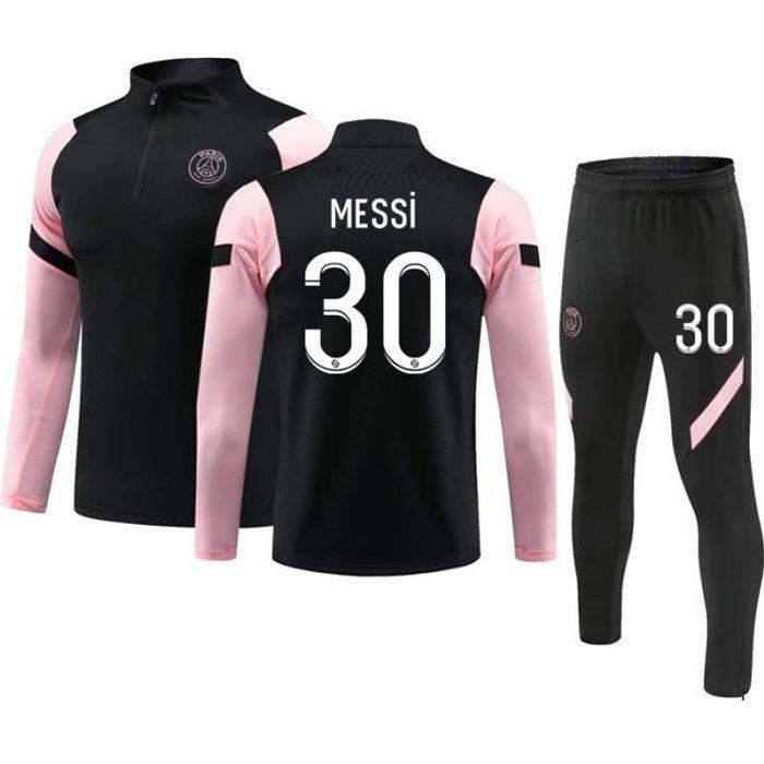 Maillot de Football Paris 2020-2021 Collection de Paris 30 Messi Survêtement de Entraînement Tenue de Training Noir pour Enfant