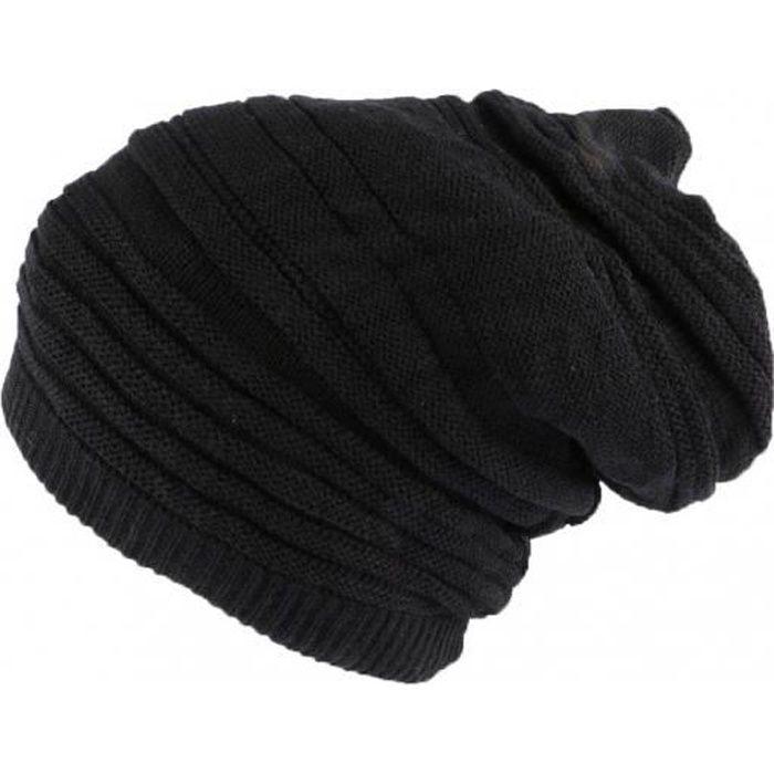 Bonnet Tube noir uni Jaica Rasta Nyls Création - Noir - Taille unique