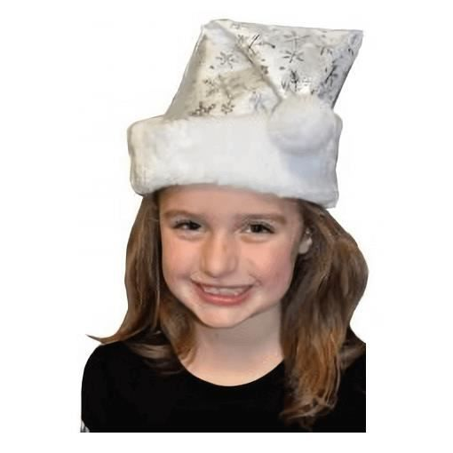 Bonnet de Noël enfant blanc et flocon argenté (x1) R/NEUS156