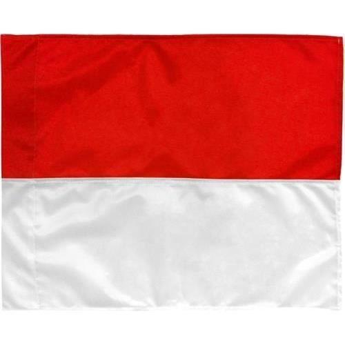 TOM linesman drapeau 39 x 32 cm rouge / blanc