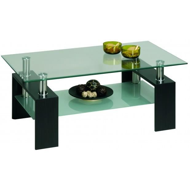 Table basse verre coffee wenge verre achat vente for Table basse verre but