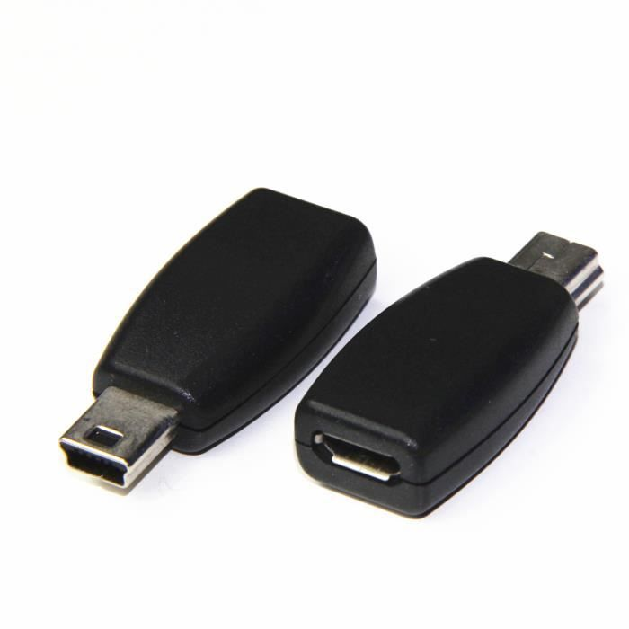 mini usb male vers micro usb femelle adaptateur prix pas cher cdiscount. Black Bedroom Furniture Sets. Home Design Ideas