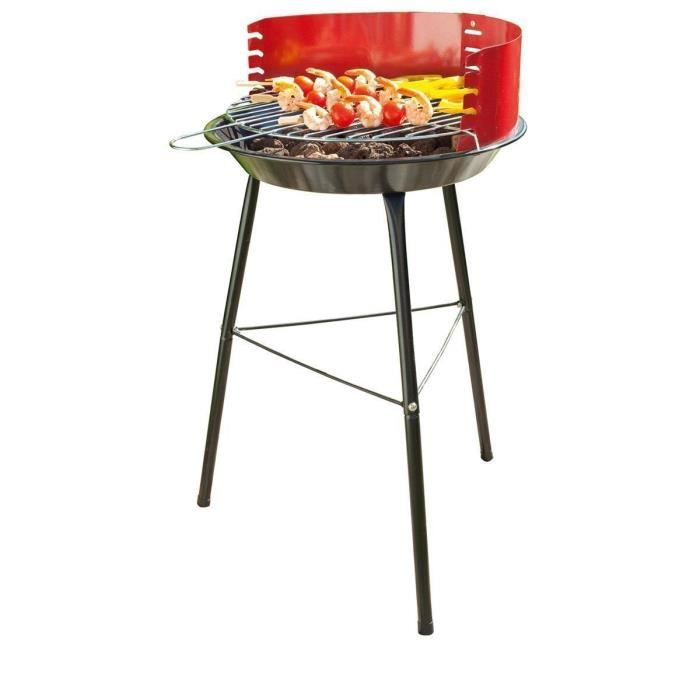 barbecue charbon sur pieds rouge achat vente barbecue. Black Bedroom Furniture Sets. Home Design Ideas