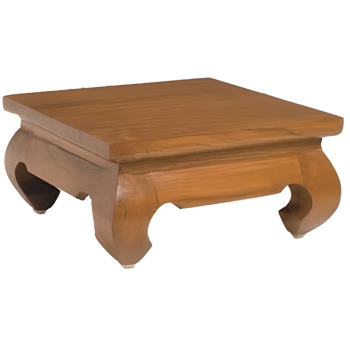 Biarritz mini table opium 30 cm en teck achat vente table basse biarritz - Table basse opium carre ...