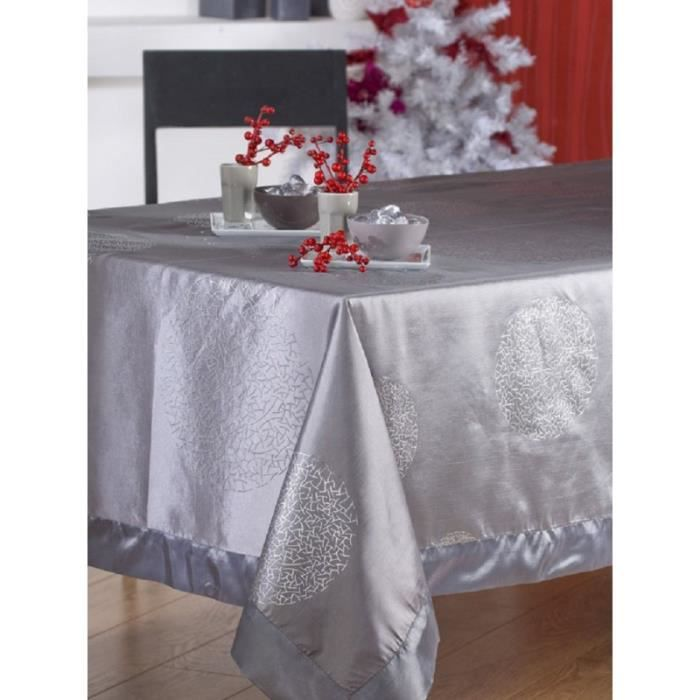 nappe en tissu 150x250 cm raphael gris argent achat. Black Bedroom Furniture Sets. Home Design Ideas