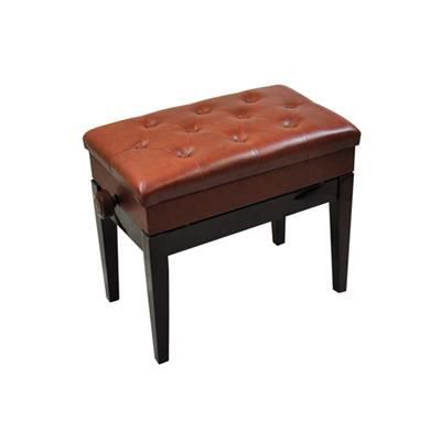 banc de piano luxueux hauteur r glable avec compartiment de rangement couleur rosewood. Black Bedroom Furniture Sets. Home Design Ideas