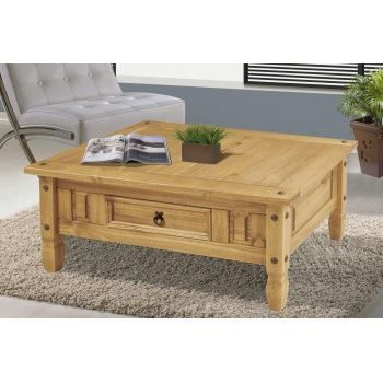 table basse en pin cir et 1 tiroir achat vente table basse table basse en pin cdiscount. Black Bedroom Furniture Sets. Home Design Ideas