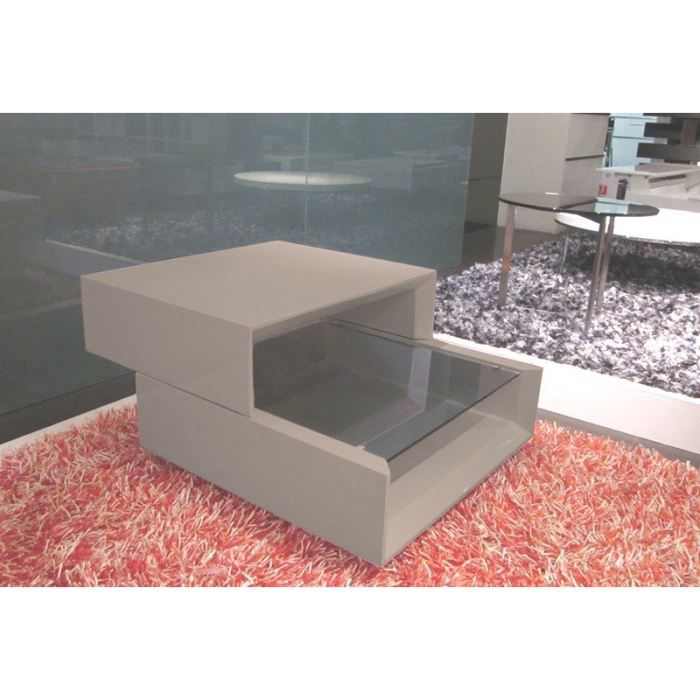 grind coffee table modulable taupe laque design achat. Black Bedroom Furniture Sets. Home Design Ideas