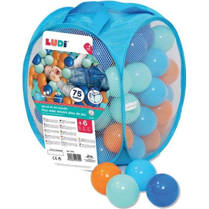 BALLES PISCINE À BALLES LUDI 75 balles de jeu - souples en plastique anti-