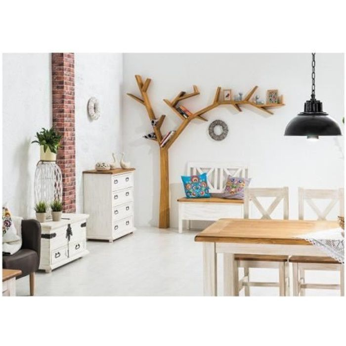 etag re biblioth que treea en forme d 39 arbre bois achat vente biblioth que etag re. Black Bedroom Furniture Sets. Home Design Ideas