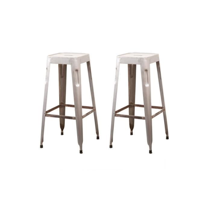 tabouret de bar style industriel tabouret de bar avec. Black Bedroom Furniture Sets. Home Design Ideas