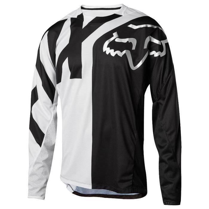 Maillot à Manches Longues Vtt Enfant Fox 2018 Demo Blanc Noir Blanc Achat Vente T Shirt Maillot De Sport Prolongation Soldes Cdiscount