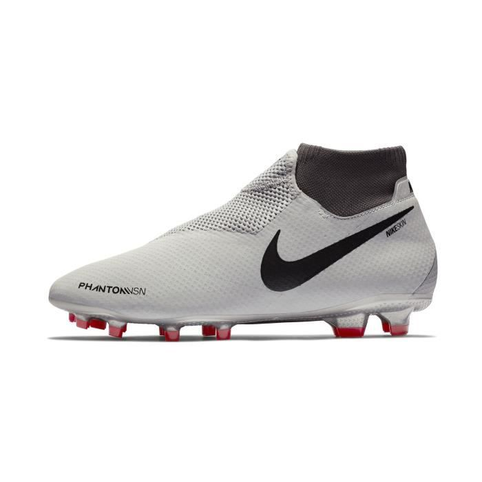 low priced 3d4a8 ec746 Chaussures football Nike Phantom Vision Pro DF FG Blanc-Rouge