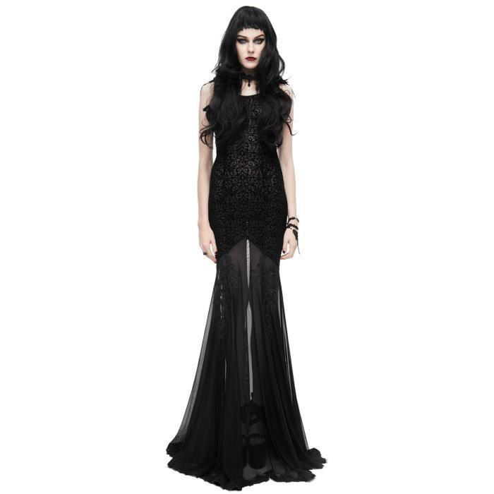 Longue Robe Noire Transparente Broderie Et Ailes En Tissus Elegant Noir Achat Vente Robe Bientot Le Black Friday Cdiscount